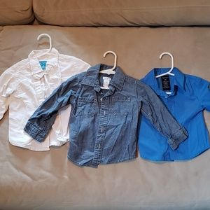 Set of 3 baby boy dress shirts